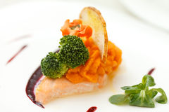 Filete de color salmón imagen de archivo