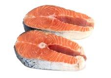 Filete de color salmón aislado en el fondo blanco fotos de archivo