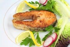 Filete de color salmón asado foto de archivo