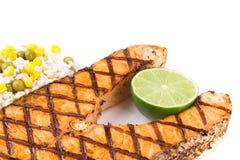 Filete de color salmón frito Fotografía de archivo libre de regalías