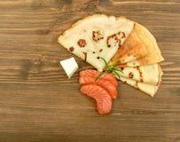 Filete de color salmón fumado Imagen de archivo libre de regalías