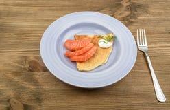 Filete de color salmón fumado Fotos de archivo libres de regalías
