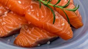 Filete de color salmón fumado Fotografía de archivo libre de regalías