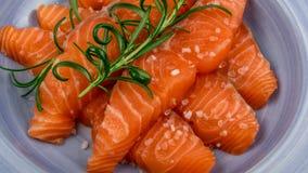 Filete de color salmón fumado Fotos de archivo