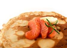 Filete de color salmón fumado Imagen de archivo