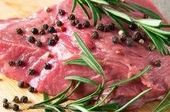 Filete de la carne de vaca cruda Imagen de archivo