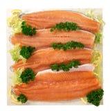 Filete de la trucha de color salmón Foto de archivo