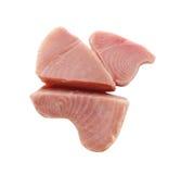 Filete de pescados amarillo de atún de la aleta Fotografía de archivo libre de regalías