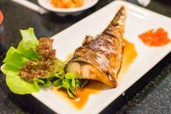 Filete de pescados de Saba, comida de Japón Fotografía de archivo libre de regalías