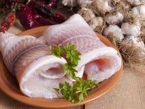 Filete de pescados en un vector Foto de archivo libre de regalías