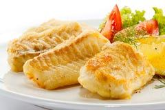 Filete de pescados frito Imagen de archivo libre de regalías
