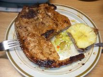 Filete del cerdo de Hawian imagen de archivo libre de regalías