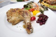 Filete del pollo con los vehículos Imagen de archivo libre de regalías