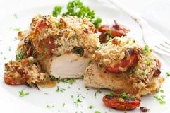 Filete del pollo con salsa Fotografía de archivo libre de regalías