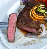 Filete del ribeye de la carne de vaca Fotografía de archivo libre de regalías