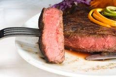 Filete del ribeye de la carne de vaca Fotografía de archivo