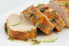 Filete esmaltado del cerdo Foto de archivo libre de regalías