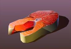 Filete jugoso grande de la trucha de mar en fondo stock de ilustración