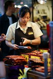 Filete secado del cerdo, macau. fotografía de archivo libre de regalías