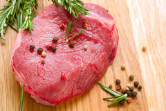 Filete sin procesar de la carne Imagen de archivo libre de regalías