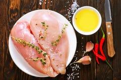 Filete sin procesar del pollo Foto de archivo