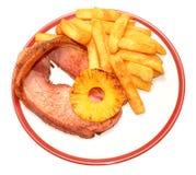 Filete y Chips Meal de Gammon Fotografía de archivo libre de regalías