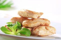 Filetes cocinados del pollo Foto de archivo libre de regalías