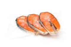 Filetes de color salmón congelados foto de archivo libre de regalías