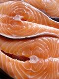 Filetes de los salmones Fotos de archivo libres de regalías