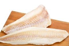 Filetes de pescados congelados Imágenes de archivo libres de regalías