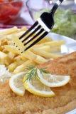 Filetes de pescados fritos Imagen de archivo libre de regalías