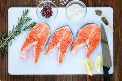 Filetes de salmones Fotografía de archivo
