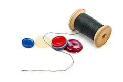Filetez la bobine et les boutons Photo libre de droits