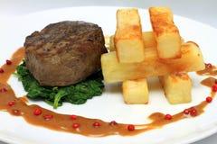 Filetlapje vlees Stock Afbeeldingen