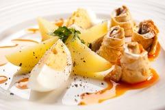 Filets de harengs marinés Images stock