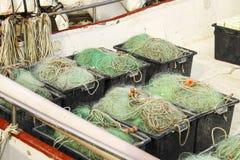 Filets de pêche photos stock