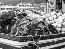 Filets de pêche Images stock