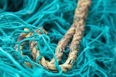Filets de pêche au port Isaac Harbour Photo stock