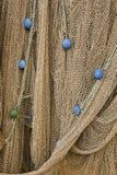 Filets de pêche avec des flotteurs Images libres de droits
