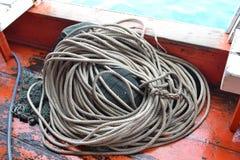 Filets de pêche et corde Images libres de droits