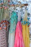 Filets de pêche et cordes Image libre de droits