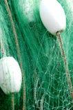 Filets de pêche et flotteurs Photos libres de droits