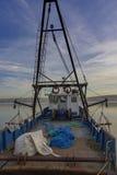 Filets de pêche sur la plate-forme Photographie stock