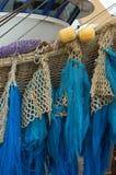 Filets de pêche sur le chalutier Photographie stock
