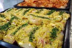 Filets de poulet de moutarde photo libre de droits