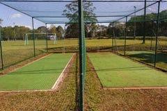 Filets de pratique en matière de cricket Photographie stock libre de droits