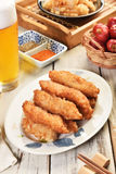 Filets frits de maquereau espagnol Photographie stock libre de droits