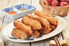 Filets frits de maquereau espagnol Photographie stock