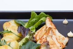 Filets frits de perche avec des pommes de terre image stock
