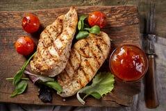 Filets grillés de poulet photographie stock